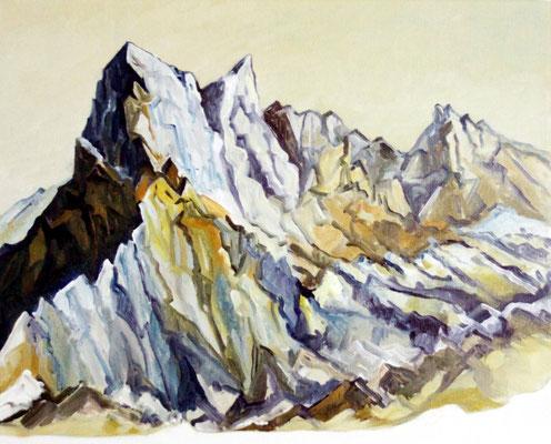 La Meije, Öl auf Leinwand 50 x 40 cm