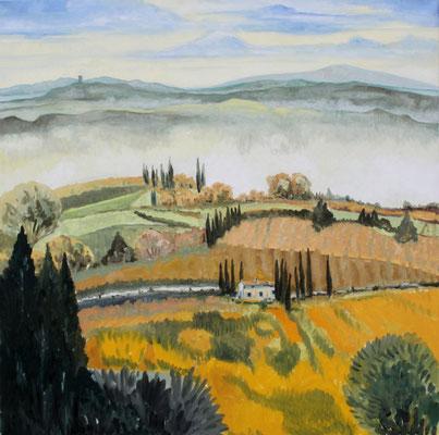 In der Toscana 100 x 100 Öl auf Leinwand