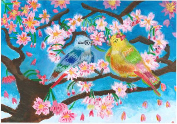 泉 志穏 『桜の木で過ごす二人の時間』
