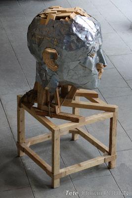 Tête - FLORIAN POULIN, Vue en plongée, profil droit