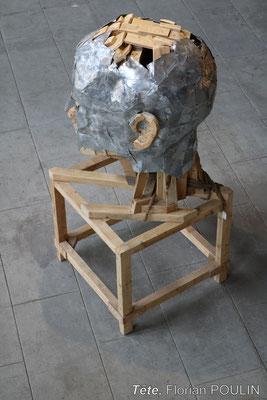 Tête - FLORIAN POULIN, Vue en plongée, profil gauche