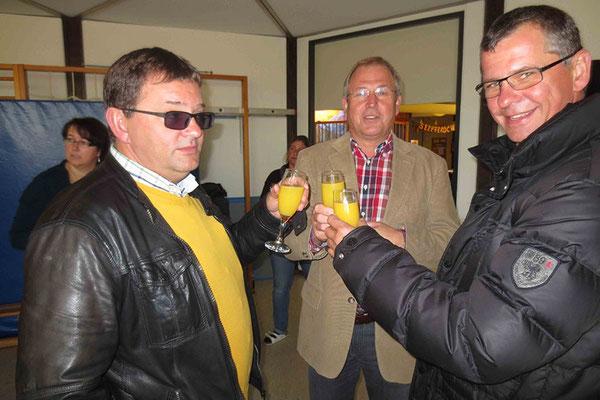 Günther Lagleder (v.l.), Konrad Stang, Armin Lagleder