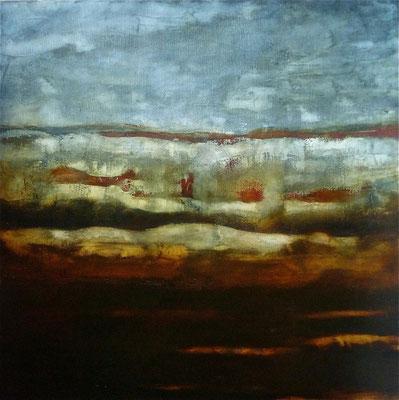 NO MAN'S LAND - huile/toile 100x100cm  - 2015