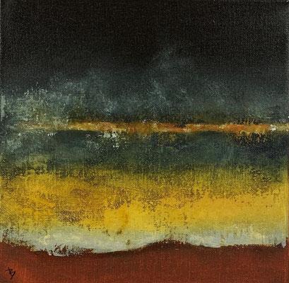 Lagune (huile sur toile - 30 x 30 cm)
