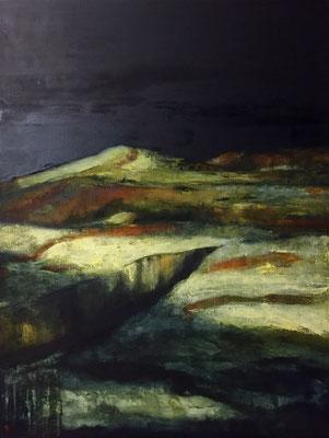 Border lands, huile sur toile - 89 x 116 cm