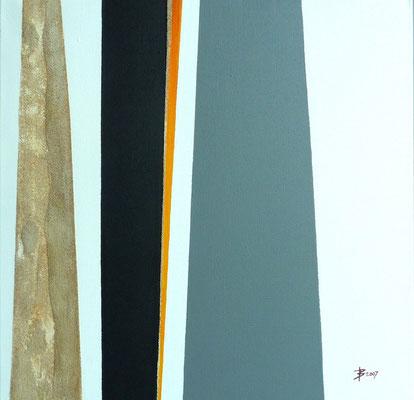 © Agnès Bressler - Bitume (50 x50)