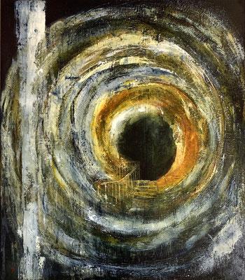 Évasion (huile sur toile - 80 x 70 cm)