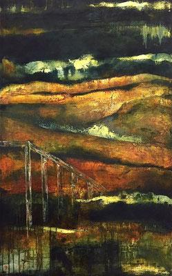 Middle Lands, huile sur toile - 116 x 73 cm