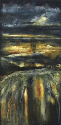 Sunken Land, huile sur toile - 60 x 120 cm
