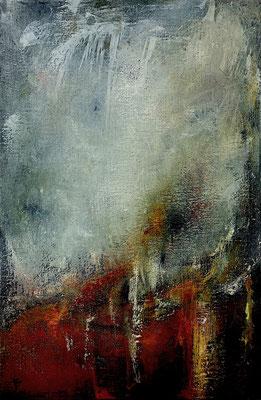 Volcanique (huile sur toile - 30 x 30 cm)