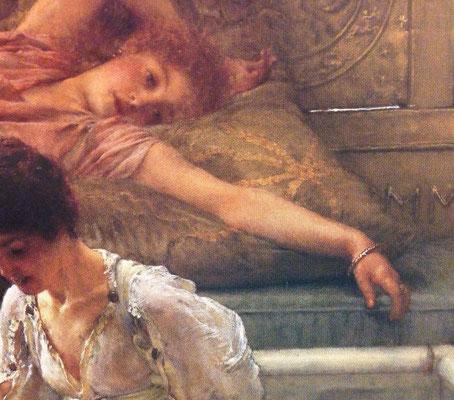 ローレンス・アルマ=タデマ《お気に入りの詩人》絵の一部分