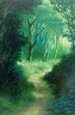 「道の向こうへ」 サイズ:P6号 油彩