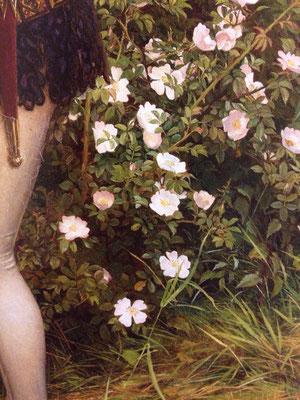 エレノア・フォーテスク=ブリックデール《小さな召使(乙女エレン)》絵の一部分