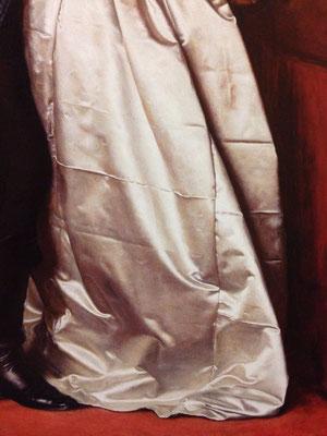 ジョン・エヴァレット・ミレイ《ブラック・ブラウンズウィッカーの兵士》絵の一部分