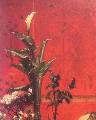 ローレンス・アルマ=タデマ《打ち明け話》絵の一部分