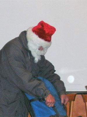 Weihnachtsmann bei der Arbeit ...