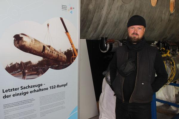 Henry Kerinnes ist der neue Kustos Luftfahrt im Verkehrsmuseum Dresden