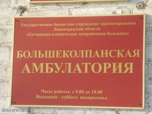 Эмблема Большеколпанской Амбулатории
