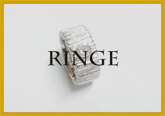 Ring Weissgold Brillant Struktur Masswerk Goldschmiede Konstanz