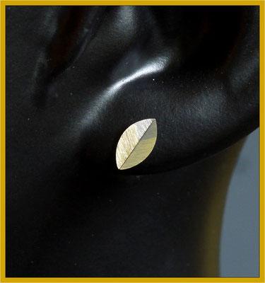 einzelner Ohrstecker für den Herrn aus Gelb- und Weißgold