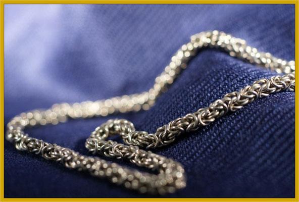 Handgearbeitete Königskette in Silber