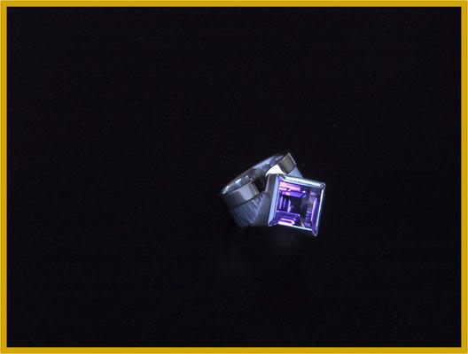 Amethyst Ring in Silber mit Gold-Belötung €460,-