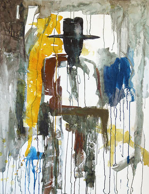 "El Caballero | 2014 | Mixed media on canvas | 130x100cm | 51.2""x43.3"" •"