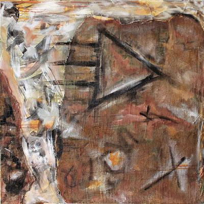 "Angola | 2014 | Mixed media on canvas | 100x100cm | 39.3""x39.4"""