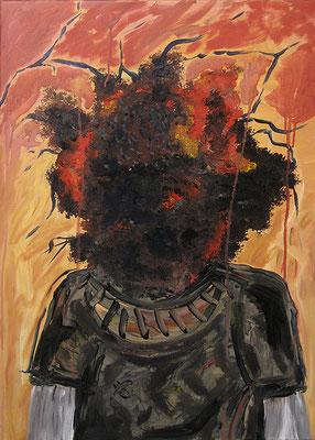 "Mind sucks | 2012 | Mixed media on canvas | 70x50cm | 27.6""x19.7"""