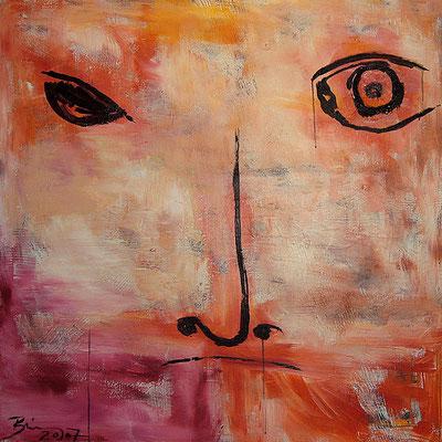 "Leonardo | 2007 | Acrylic on canvas | 100x100cm | 39.4""x39.4"" •"