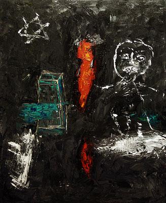 "The tower of Babylon | 2006 | Acrylic on canvas | 100x80cm | 39.4""x31.5"""