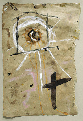 "God's eye | 2014 | Acrylic and Indian ink on paper | 51.6x36.2cm | 20.3""x14.3"""