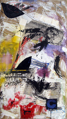 "Me active | 2012 | Mixed media on canvas | 50x70cm | 19.7""x27.6"""
