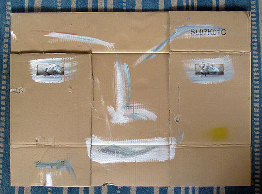 "The end of the painting | 2012 | Acrylic on carton | 68x93cm | 26.8""x36.6"""