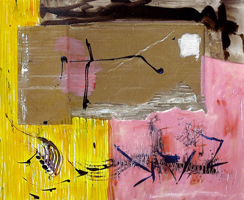"Stage | 2013 | Mixed media on canvas | 50x60cm | 19.7""x23.6"""