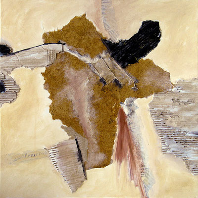 "Spanish blood | 2012 | Mixed media on canvas | 60x60cm | 23.6""x23.6"""