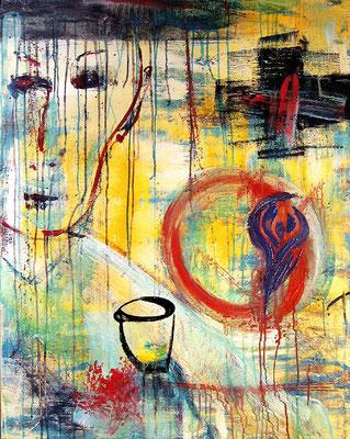 "(Sometimes I feel so) Uninspired | Acrylic on canvas | 100x80cm | 39.4""x31.5"""