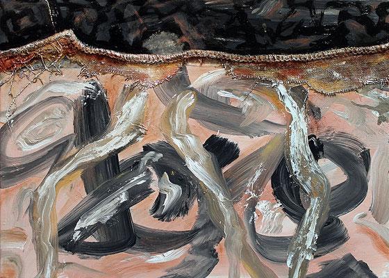"Vollendet unvollendet | 2014 | Mixed media on canvas | 50x60cm | 19.7""x27.6"""