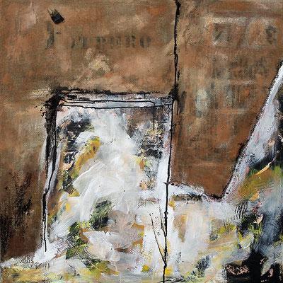 "Potrero | 2014 | Mixed media on canvas | 100x100cm | 39.4""x39.4"""