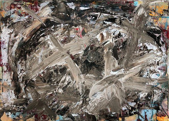 "Schlamm / Mud | 2014 | Mixed media on canvas | 50x70cm | 19.7""x27.6"", 2014"