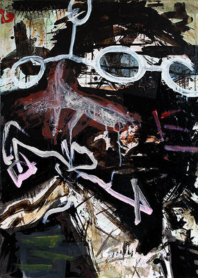 "System error | 2013 | Mixed media on canvas | 70x50cm | 27.6""x19.7"""