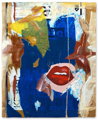 "Tongue-playing | Mixed Media on cardboard | 30x24cm | 11.8""x9.4"" 