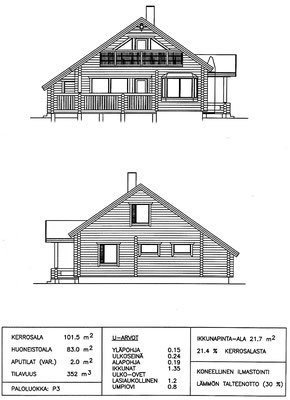 Sketch of the house