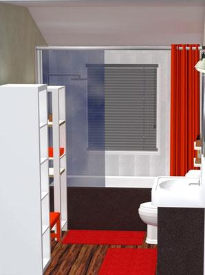 Vue 3D du projet de rénovation