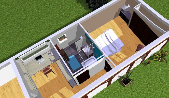 Aménagement intérieur de l'avant projet d'extension