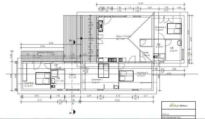 Plan de détail de l'avant projet d'extension