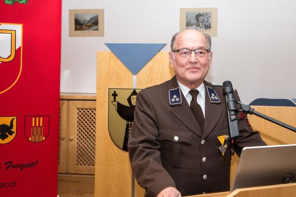 Rede von Obmann des Veteranen- und Reservistenvereins Zell am Ziller und Umgebung Paul Herunter