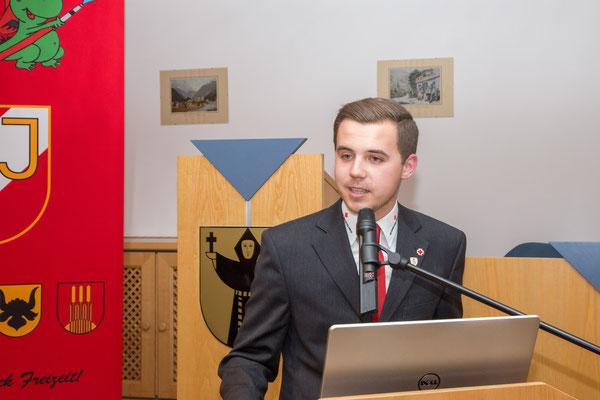 Rede von Ortsstellenleiter Rotes Kreuz Mayrhofen Christoph Föttinger