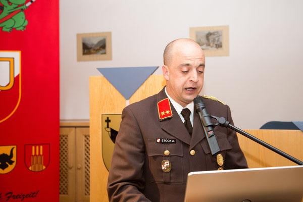Tätigkeitsbericht durch Kommandant Stv. OBI Alexander Stock