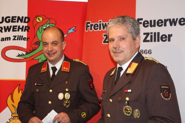 Kdt.-Stv. Alexander Stock und Kdt. Siegfried Geisler begrüßten unsere Gäste